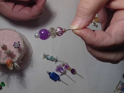 Miniature perfume bottles ,stickpins