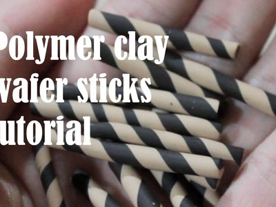 Polymer clay wafer stick tutorial