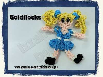 Rainbow Loom Goldilocks from the 3 Bears Action Figure.Charm - Gomitas