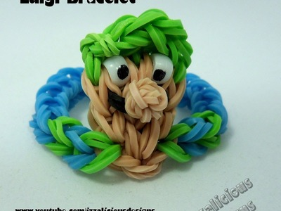 Rainbow Loom Luigi (from Super Mario) Bracelet Tutorial