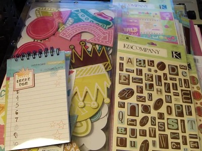 Scrapbooking New Year's Haul