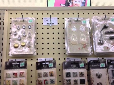 Scrapbooking with Marion Vintage Trinkets at Hobby lobby