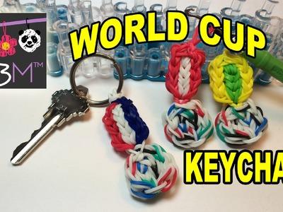 2014 FIFA World Cup Brazuca Ball Keychain on the Rainbow Loom
