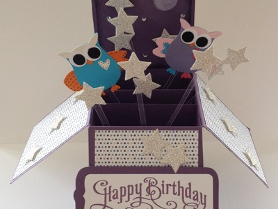 3D Folding Box Card - Hoot-astic design using Stampin' Up! products