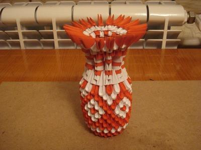 3D Origami Vase Tutorial #5
