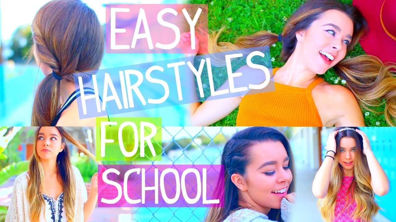 5 Insanely Easy Back To School Hairstyles! + Outfits!