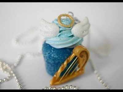 Angel Cupcake Tutorial, Polymer Clay Miniature Food Tutorial