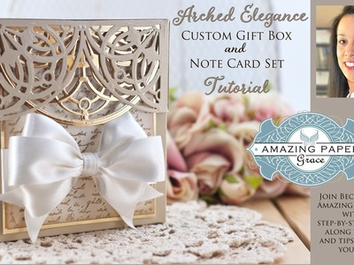 APG - Introducing Spellbinders Arched Elegance -  Gift Card Set Tutorial