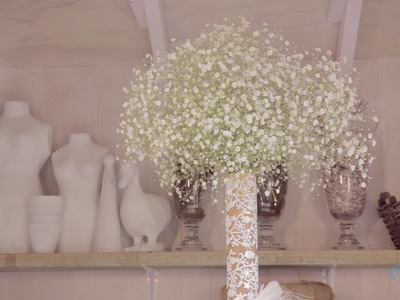 Arranging with Gypsophila Floristry Tutorial