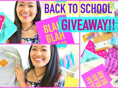 Back To School Supplies Haul GIVEAWAY 2015!!