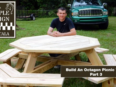 Build An Octagon Picnic Table Part 3