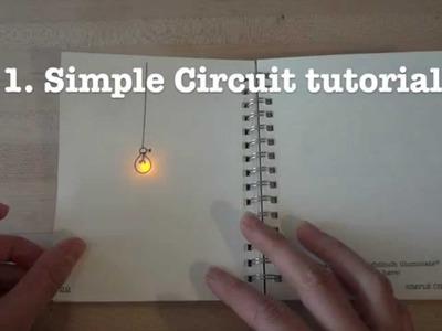 Circuit Stickers tutorial 1: simple LED circuit