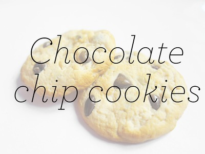 Cold porcelain tutorial: Chocolate Chip Cookies