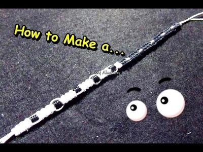 "Como Hacer ""Pulsera del Ying Yang"".How to Make a ""Bracelet Ying Yang ""-By Puntoy Alambre."