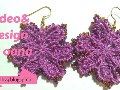 Crochet stylish earrings