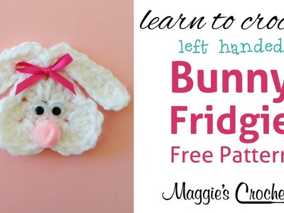 Cute Bunny Fridgie Free Crochet Pattern - Left Handed