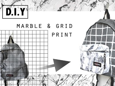D.I.Y. Marble & Grid Print | 5feet-6inches for EASTPAK