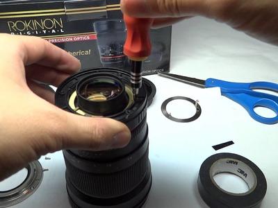 Declicking a rokinon.samyang 35mm 1.4 lens manual focus -- Cine version!