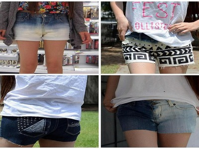✂ DIY: Bleach and Stud Shorts - Revamp Old Jeans for School!
