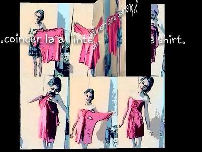 DIY:comment transformer un tee shirt en robe ! ;)