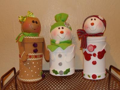 DIY - Dulceros Navideños  con material reciclado. Christmas candy holders