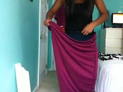 DIY: From Maxi Dress to Short Dress