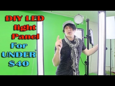 DIY LED light panel How to build Video Photography studio lighting cheap