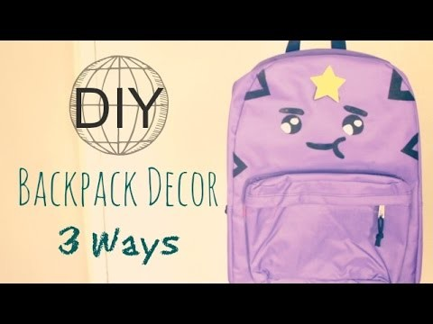 DIY Personalized Backpacks for Back to School 2014
