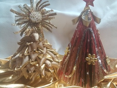 DIY Pinito de navidad hecho con materiales reciclados. Christmas Tree using plastic bottle