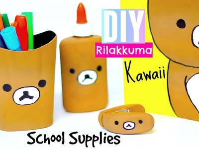 DIY Rilakkuma -Back to School Diy Supplies - Kawaii Diy crafts, projects, room decor ideas Pinterest