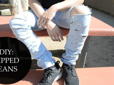DIY: Ripped Jeans | KAD Customs #46