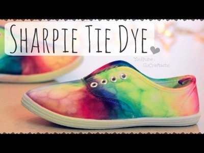 DIY Sharpie Tie Dye Shoes. Rainbow Sneakers How To