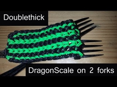 Dragon Scale Cuff - Double Banded on 2 Forks