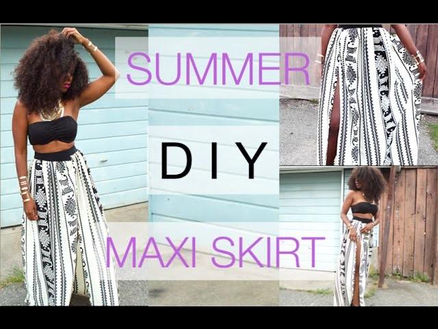 EASY SUMMER DIY SKIRT | DIY MAXI SKIRT | SUMMER DRESSES
