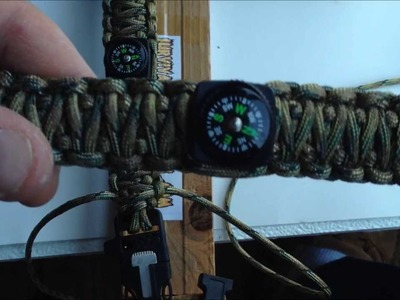 Fire Starter Buckle Bracelet With Compass How to Make Your Own Ultimate Survival Bracelet