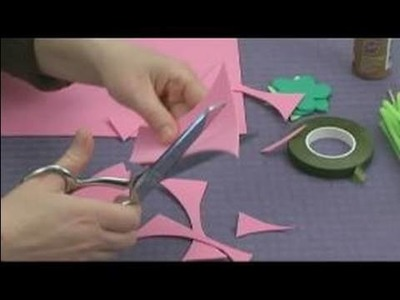 Foam Flower Crafts for Kids : Making Flower Petals for Kids' Crafts