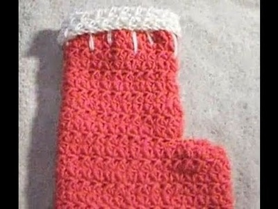Full Size Crochet Christmas Holiday Stocking Crochet Geek