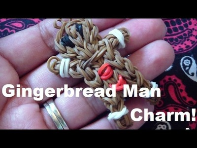 Gingerbread Man Loom Charm (Step-by-Step)!!! Rainbow Loom