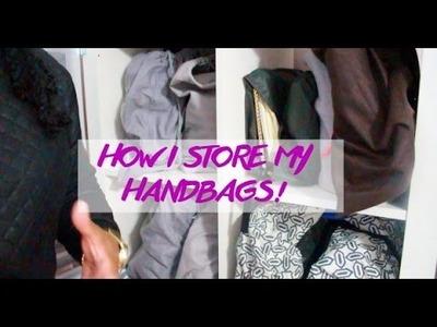 Handbag Storage and Organization - DIY Handbag Shelf!