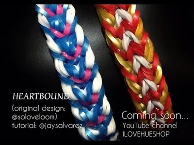 HEART BOUND loom tutorial by @jaysalvarez for ILOVEHUESHOP