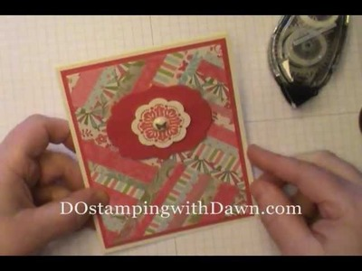 Herringbone Technique w.Stampin' Up! Everyday Enchantment DSP