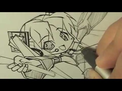 How I Draw Hatsune Miku | Inking | Copics