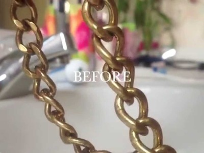 HOW TO: clean fashion jewelry with one household product