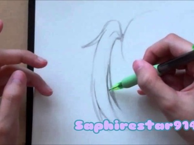 How to draw Manga Anime Style Hair: Part 2 Drawing PonyTails Tutorial
