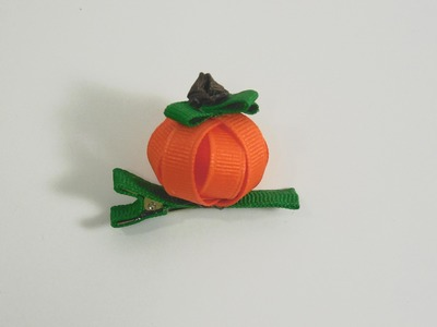 How to Make A 3D Pumpkin Hair Clip (version 2)