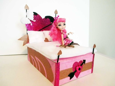 How to make a C.A. Cupid doll bed tutorial. Monster High. Ever After High