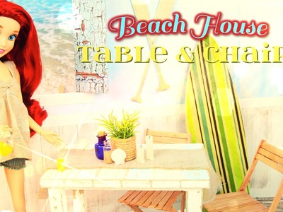 How to Make a Doll Beach House Table & Chairs Set - Doll Crafts