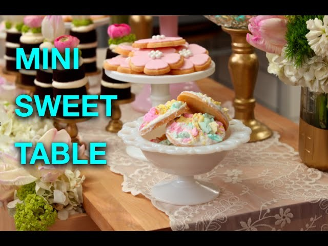 How To Make A Mini Sweet Table for EASTER with Sugar Cookies and Naked Chocolate Cakes!