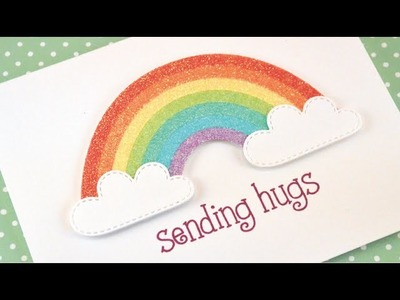 How to make glitter rainbow cards