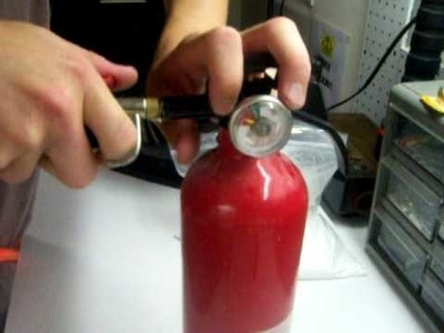How to refill a fire extinguisher